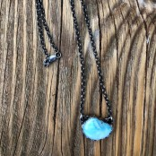 Larimar from the Caribbean Sterling Necklace