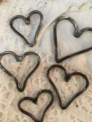 Hammered Copper Heart Pendant
