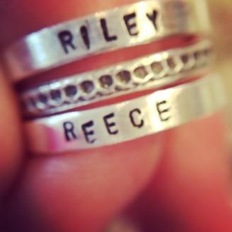 Custom Stamped Stacking Ring