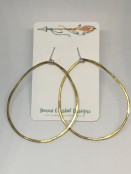 Organic Hammered Hoop Earrings
