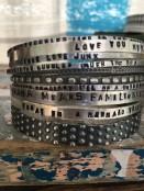 Custom Stamped Bangle Bracelet