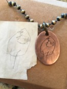 Custom Etched Oval Charm