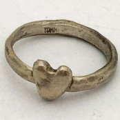 Hand Cast Chunky Single Heart Ring