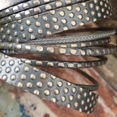 Dots & Honeycomb Sterling Bangles