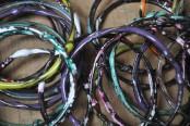 Enamel Dipped Bangle Bracelets
