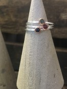 Gemstone Sterling Silver Stacker Ring