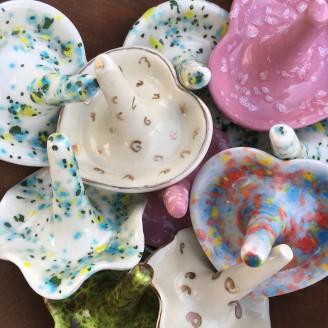 Ceramic Multi-Colored Ring/Jewelry Holders