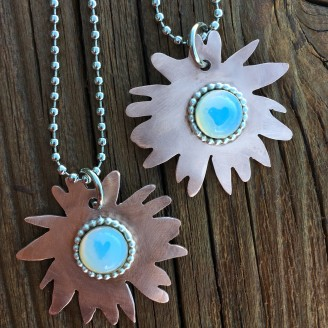 Opaline Sunflower Necklace