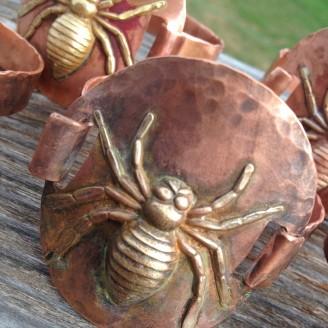 Copper Spider Bracelet