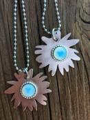 Opaline Sunflower Necklace