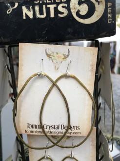 Organic Brass Hoops