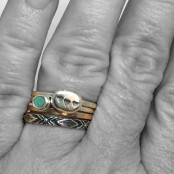 Tribal Stacker Ring