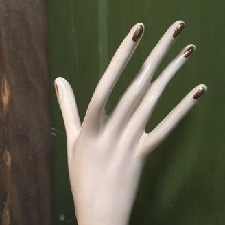 Ceramic Vintage Replica Hand Ring/Jewelry Holder