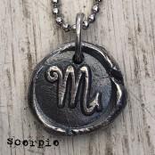 Hand Cast Zodiac Wax Seal Necklace